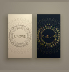 mandala card or banners in premium golden style vector image