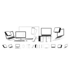 mockups gadgets set vector image