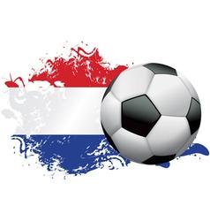 Netherlands Soccer Grunge vector