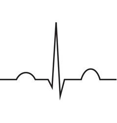 normal heart rhythm ekg line symbol vector image