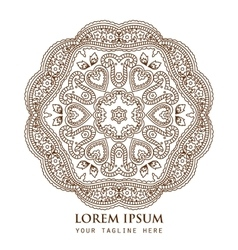 Ornamental round paisley pattern vector image
