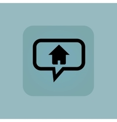 Pale blue home message icon vector