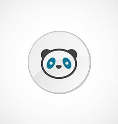 Panda icon 2 colored vector