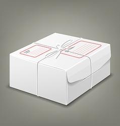 Parcel boxes white box design background vector