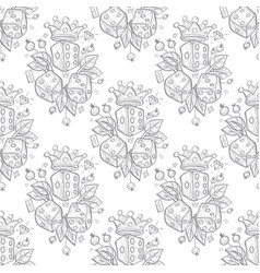 pattern set of dices and crowns on white vector image