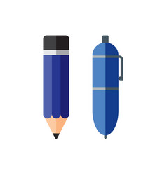 pencil and pen vector image