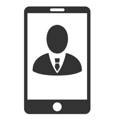 Phone customer profile flat icon vector