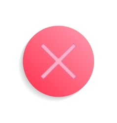 Pink no wrong delete or rejected check mark with vector