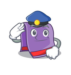 Police towel character cartoon style vector