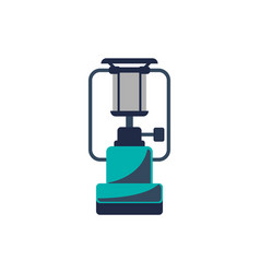 Portable gas stove isolated icon vector