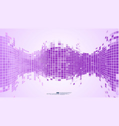 Purple abstract background mosaic pixels vector