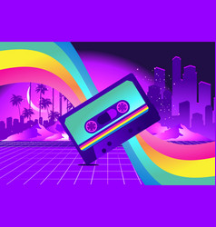 Retro style pop disco vector