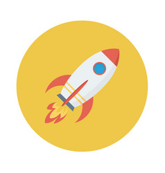 Rocket spaceship space startup launch vector