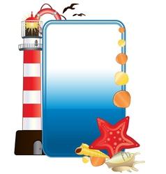 sea postcard vector image
