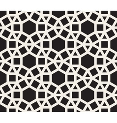 seamless black and white tessellation vector image