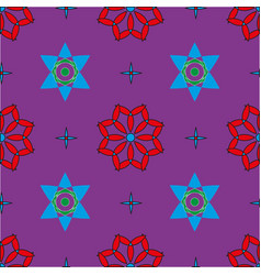 Seamless pattern with colored shapes vector