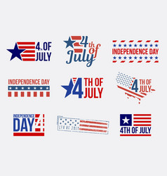 set badges and labels and stamps independence vector image