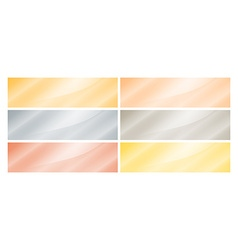 Set of empty glossy rectangular banners of gold vector image