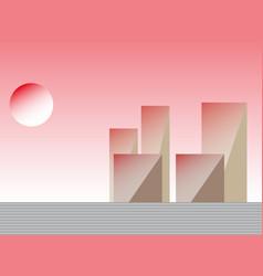 Setting sun vector