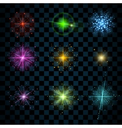 Shine colorful stars vector image
