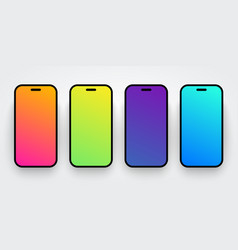 soft colorful smartphone screen background set vector image