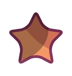 star favorite isolated icon vector image