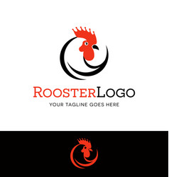 stylized rooster head logo vector image