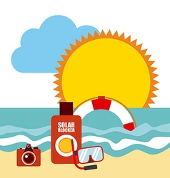 summer vacations vector image