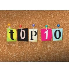 Top 10 concept vector
