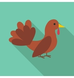 Turkey icon flat style vector