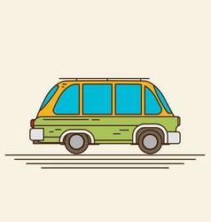 Vintage flat car vector