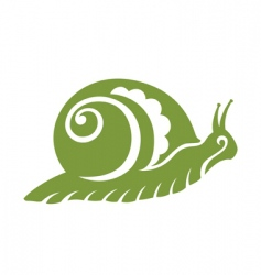 vintage snail vector image