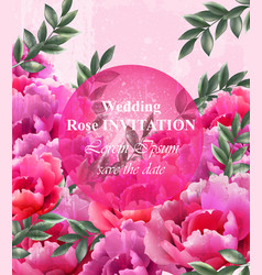 wedding roses invitation beautiful roses vector image