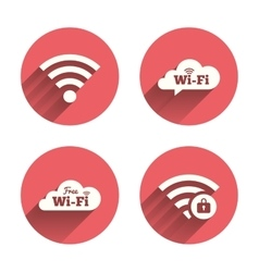 Wifi Wireless Network icons Wi-fi zone locked vector image