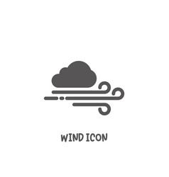 wind icon simple flat style vector image