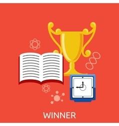 Winner Concept Goblet Design Flat vector image