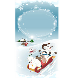 Winter greeting long blank vector