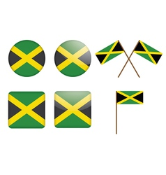 badges with flag of Jamaica vector image