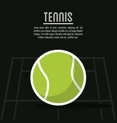 Ball and league of tennis sport design vector
