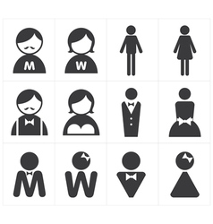 Icon toilet man and woman vector