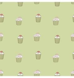 pattern cupcake vector image