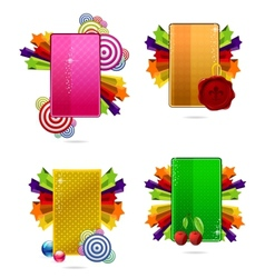 glass colored creative cards set vector image