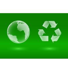 glass eco icons vector image