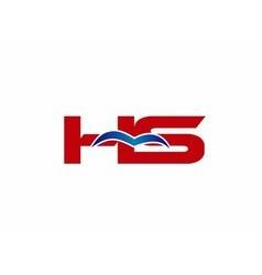 HS Logo Graphic Branding Letter Element vector image