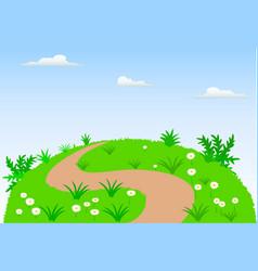 landscape scene background vector image vector image