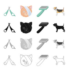 neck veterinarian attributes and other web icon vector image