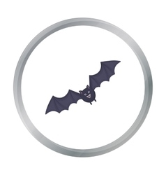 Bat icon in cartoon style isolated on white vector image vector image
