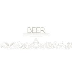 Beer graphic design Banner flyer vector image