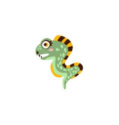 cute eel fish funny sea creature hand drawn vector image vector image