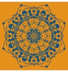 Hand drawn ethnic circular beige ornament Mandala vector image
